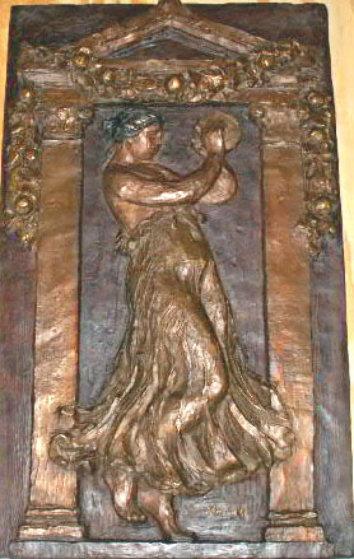 Dancer with Tambourine III Bronze Bas Relief 1989 Sculpture by Pierre Auguste Renoir