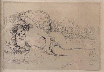 Femme Nu En Couchee Limited Edition Print - Pierre Auguste Renoir