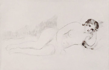 Femme Nue Couchee (Tournee a Driote) 1906 Limited Edition Print - Pierre Auguste Renoir