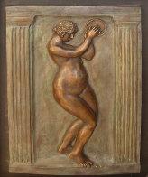 Dancer With Tambourine II Bronze Bas Relief Sculpture 26 in Sculpture by Pierre Auguste Renoir - 1