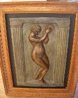 Dancer With Tambourine II Bronze Bas Relief Sculpture 26 in Sculpture by Pierre Auguste Renoir - 2