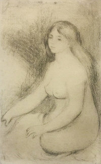 Baigneuse Assise (D., S. 11) 1897 Limited Edition Print - Pierre Auguste Renoir