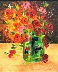 Bouquet De Fleurs 2009 27x23 Original Painting - Alexandre Renoir