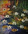 Waterlilies 33x29 Original Painting - Alexandre Renoir