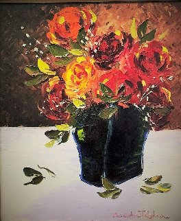 Still Life With Flowers 35x31 Original Painting by Alexandre Renoir
