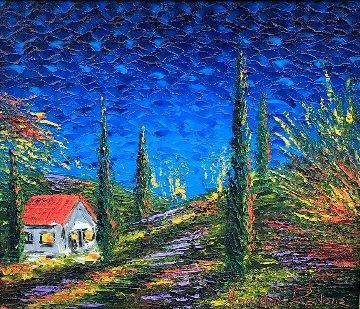 Tuscan Scene 23x27 Original Painting - Alexandre Renoir