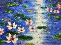 Shimmering Giverny 40x50 Original Painting - Alexandre Renoir