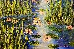 Waterlilies At Giverny  Original Painting - Alexandre Renoir