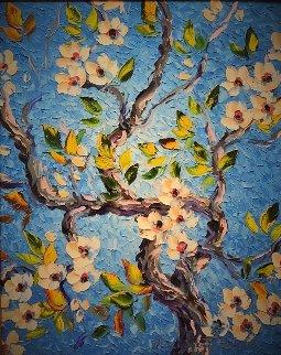 Dogwood 40x34 Original Painting - Alexandre Renoir