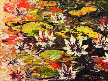 Waterlilies 2010 39x49 Original Painting - Alexandre Renoir