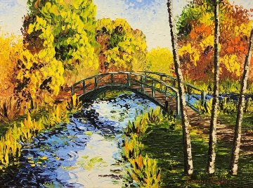 Bridge 2011 40x50 Original Painting - Alexandre Renoir