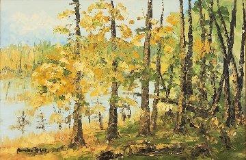 Lake View 34x45 Original Painting - Alexandre Renoir