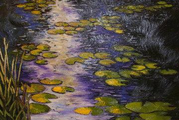 Lilly Pads 2007 46x66 Original Painting - Alexandre Renoir