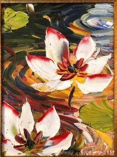 Lotus 2010 18x15 Original Painting - Alexandre Renoir