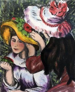 Les Jeunes Filles Au Chapeaux 2000 Limited Edition Print - Alexandre Renoir