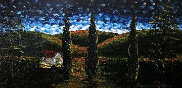 Night Comes 2015 30x50 Original Painting by Alexandre Renoir