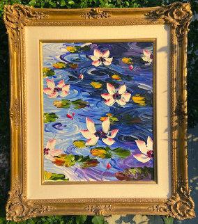 Lily Pad 2010 30x60 Original Painting by Alexandre Renoir