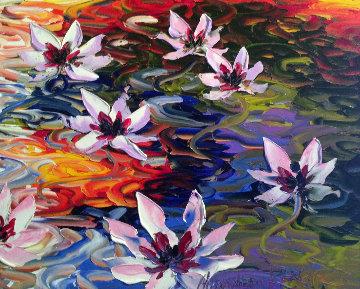 Lily Pad 2010 32x36 Original Painting by Alexandre Renoir
