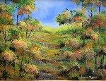Landscape With Brook 2011 40x49 Original Painting - Alexandre Renoir