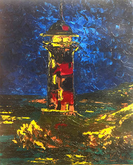 Lighthouse 2010 24x20 Original Painting - Alexandre Renoir