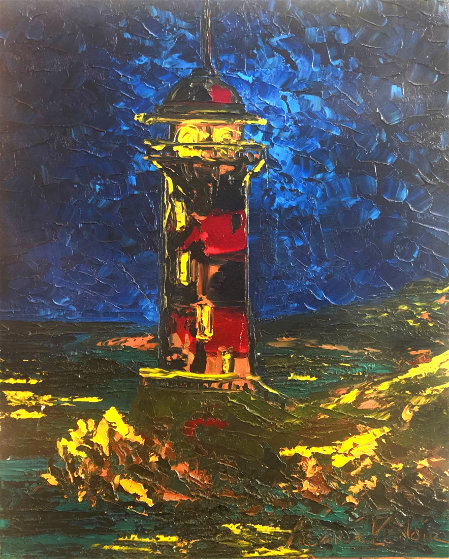 Lighthouse 2010 24x20 Original Painting by Alexandre Renoir