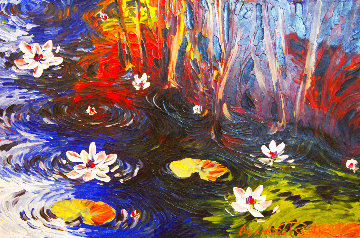 Dawning Lilies 2012 20x30 Original Painting - Alexandre Renoir