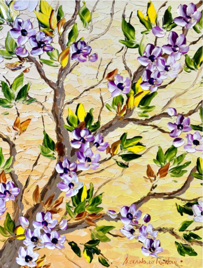 Spring Bloom Original 2020 30x24 Original Painting by Alexandre Renoir