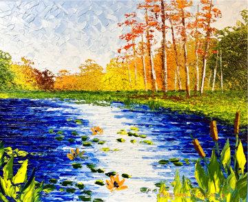 Waters Side Original 2020 24x30 Original Painting - Alexandre Renoir