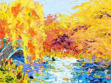 Peaceful Pond Series 2011 28x33 Original Painting by Alexandre Renoir