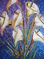 Calla Lillies 2010 52x40 Original Painting - Alexandre Renoir