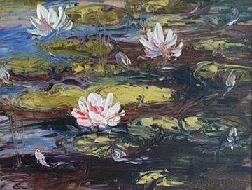 Pond At Dusk  2007 18x22 Original Painting - Alexandre Renoir
