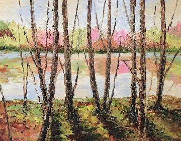 River Landscape 2009 33x39 Original Painting - Alexandre Renoir