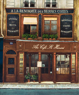 Cafe St Honore 1980 Limited Edition Print by Andre Renoux