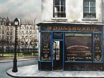 Boulangerie Du Square 1990 Limited Edition Print - Andre Renoux