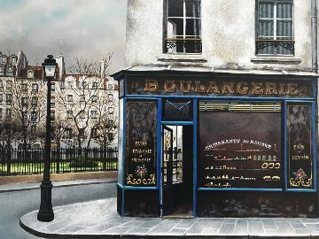 Boulangerie Du Square 1990 Limited Edition Print by Andre Renoux