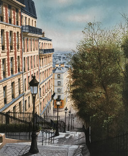 Rue Street 1990 Limited Edition Print by Andre Renoux