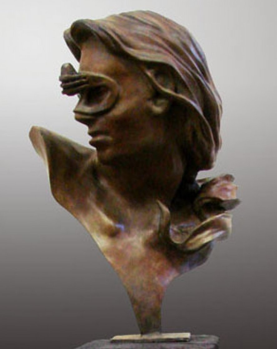 A Little Thought Kept in Perspective Bronze Sculpture 2009 25 in Sculpture by Larry Renzo Lewis