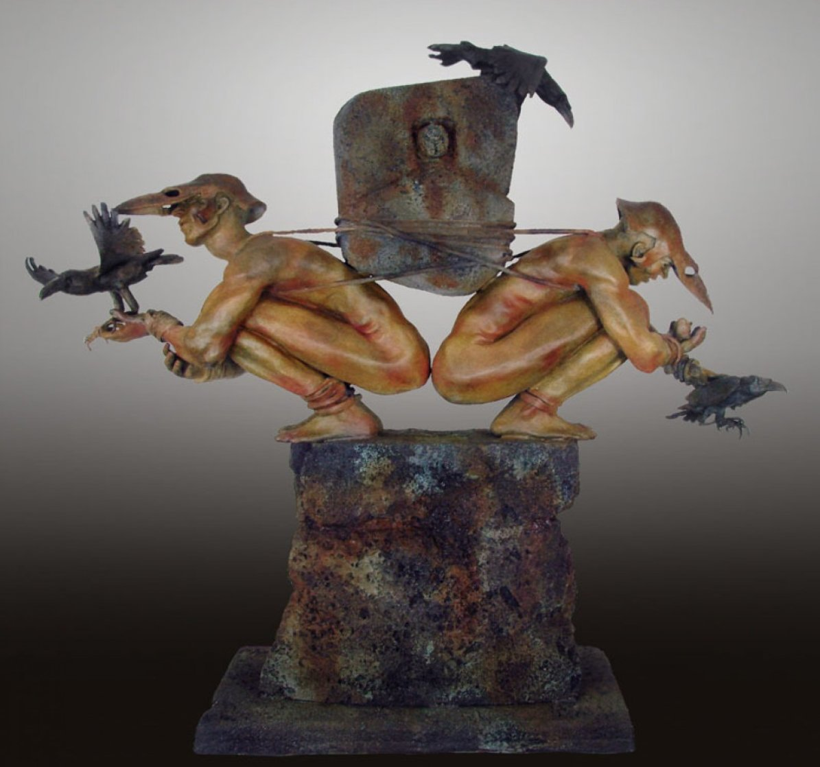 Choice of Causation Bronze Sculpture 2012  46 in Sculpture by Larry Renzo Lewis
