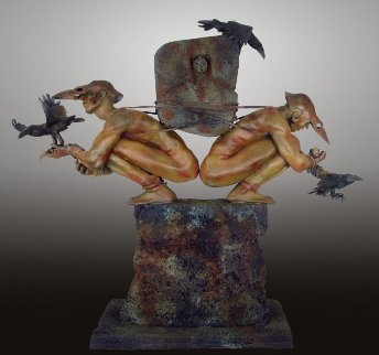 Choice of Causation Bronze Sculpture 2012  46 in Sculpture - Larry Renzo Lewis