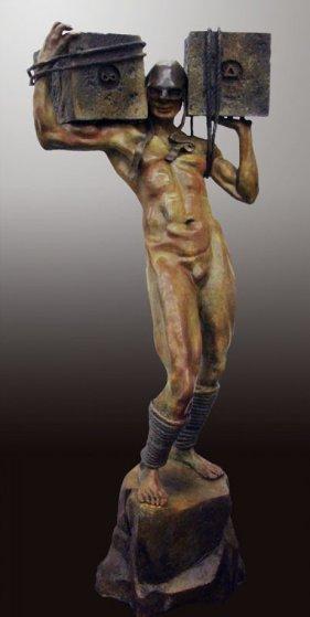 Awake Bronze Sculpture 2009 55 in Sculpture by Larry Renzo Lewis