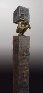 Enlightened Bronze Sculpture 2013 Sculpture by Larry Renzo Lewis