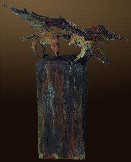Raven's View I AP Bronze Sculpture 2012 18 in Sculpture - Larry Renzo Lewis