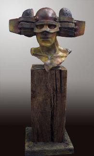 Messenger Bronze Sculpture 2009 32 in Sculpture by Larry Renzo Lewis