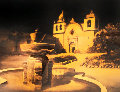Carmel Mission Watercolor 2003 29x41 Watercolor - Ruben Resendiz