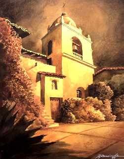 Mission 1999 Watercolor 24x20 Watercolor - Ruben Resendiz