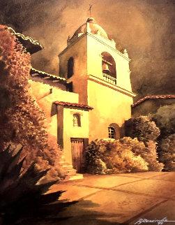 Mission 1999 Watercolor 24x20 Watercolor by Ruben Resendiz