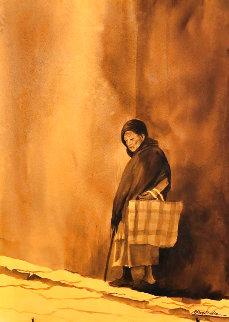Viejita 27x19 Original Painting - Ruben Resendiz