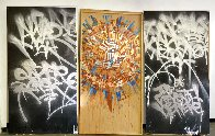 Untitled Early Painting 2000 96x51 Super Huge Original Painting by  RETNA - 6