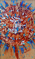 Untitled Early Painting 2000 96x51 Super Huge Original Painting by  RETNA - 0