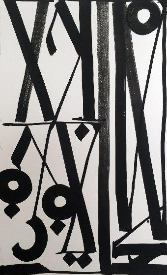 Double Stacks  2014 42x30 Works on Paper (not prints) by  RETNA